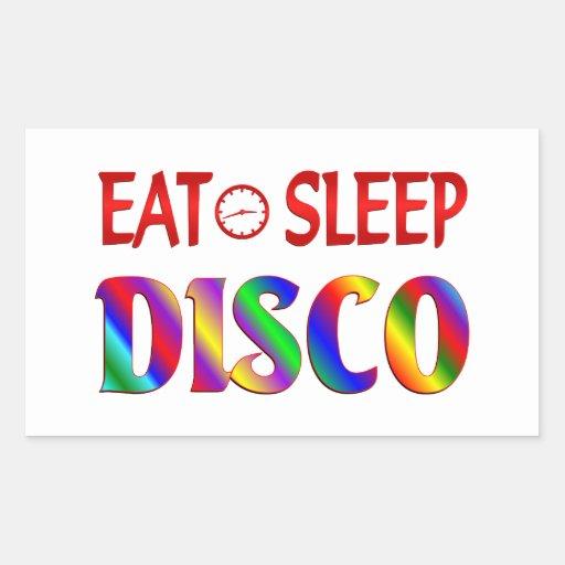 Eat Sleep Disco Rectangle Stickers