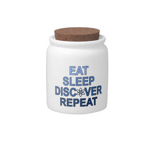 Eat Sleep Discover Repeat Candy Jars