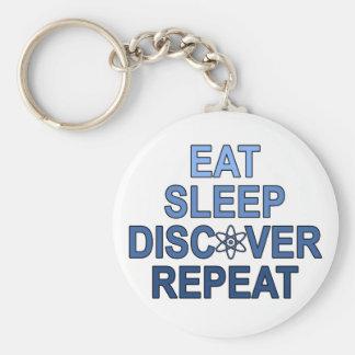Eat Sleep Discover Repeat Key Chain