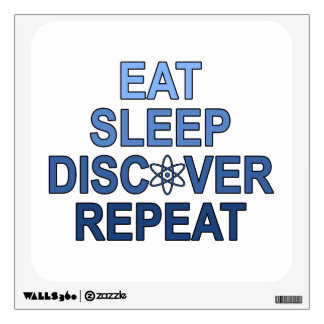 Eat Sleep Discover Repeat Wall Decal
