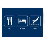 Eat Sleep Dive Card