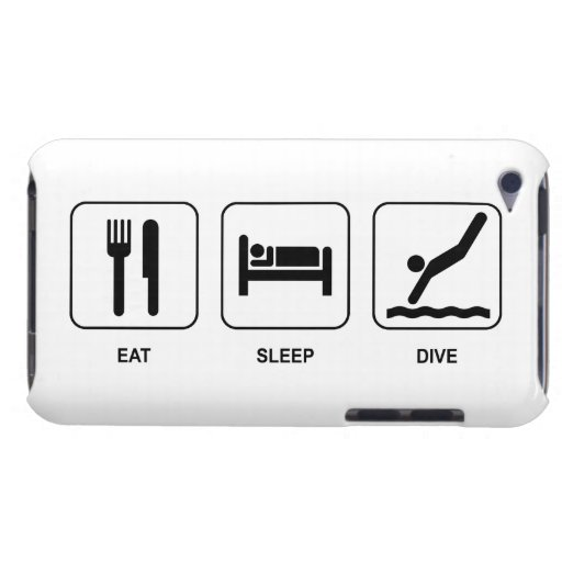 Eat Sleep Dive iPod Touch Cases