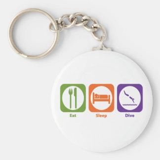 Eat Sleep Dive Keychain