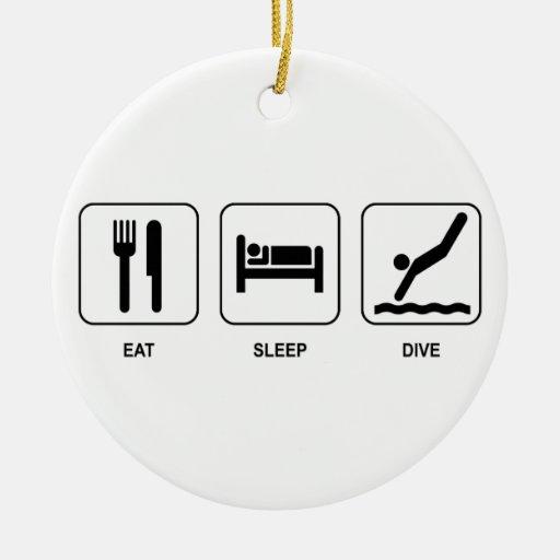 Eat Sleep Dive Ornament