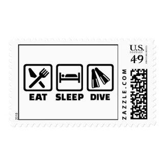 Eat sleep dive postage