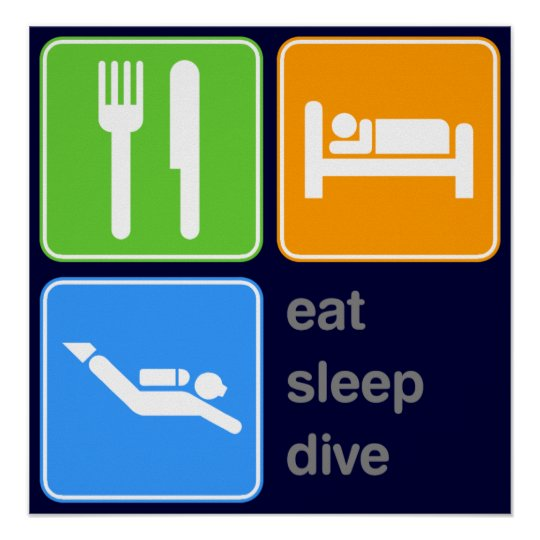 Eat Sleep Dive Poster