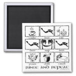 Eat Sleep Dive Rinse and Repeat 2 Inch Square Magnet