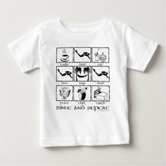 Eat Sleep Dive Rinse and Repeat Baby T-Shirt