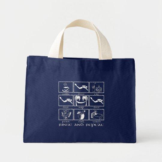 Eat Sleep Dive Rinse and Repeat Mini Tote Bag