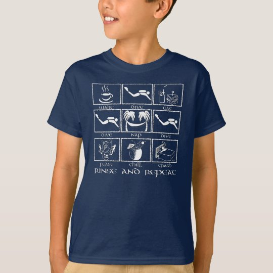 Eat Sleep Dive Rinse and Repeat T-Shirt