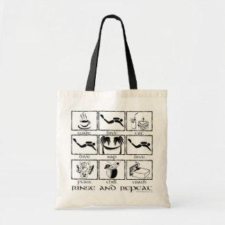 Eat Sleep Dive Rinse and Repeat Tote Bag