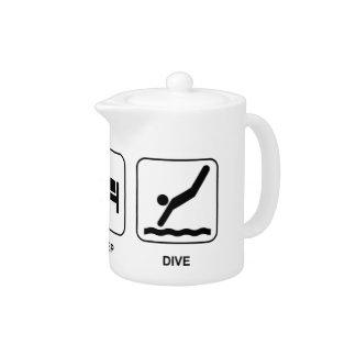 Eat Sleep Dive Teapot