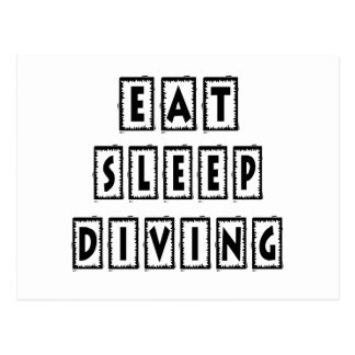 Eat Sleep Diving Post Cards
