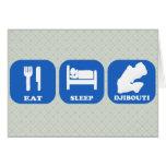 Eat Sleep Djibouti Greeting Card
