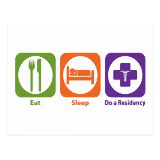 Eat Sleep Do a Residency Postcard