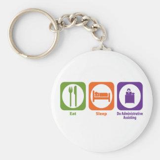 Eat Sleep Do Administrative Assisting Basic Round Button Keychain