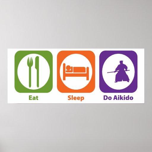 Eat Sleep Do Aikido Poster