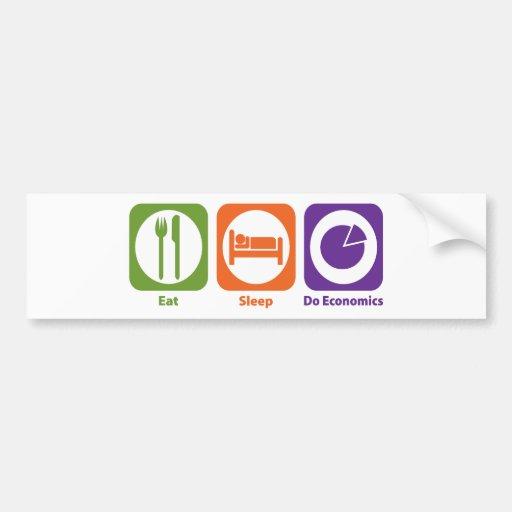 Eat Sleep Do Economics Car Bumper Sticker