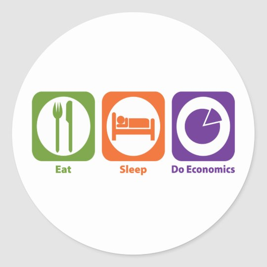 Eat Sleep Do Economics Classic Round Sticker
