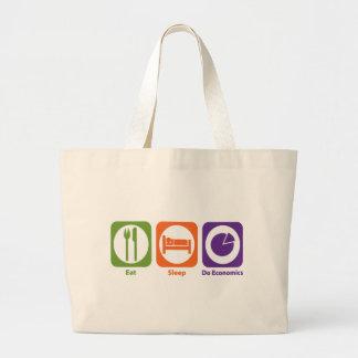 Eat Sleep Do Economics Large Tote Bag