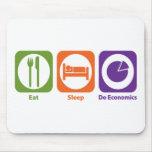 Eat Sleep Do Economics Mouse Mats