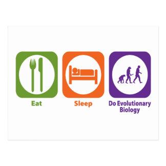 Eat Sleep Do Evolutionary Biology Postcard