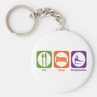 Eat Sleep Do Gymnastics Keychain