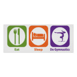 Eat Sleep Do Gymnastics Print