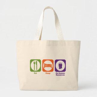 Eat Sleep Do Human Resources Large Tote Bag