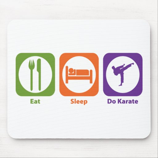 Eat Sleep Do Karate Mouse Mat