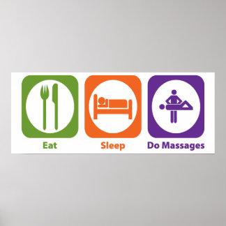 Eat Sleep Do Massages Poster
