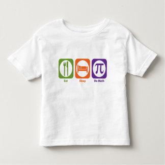 Eat Sleep Do Math Toddler T-shirt