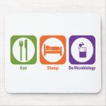 Eat Sleep Do Microbiology Mouse Mat