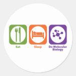 Eat Sleep Do Molecular Biology Round Sticker