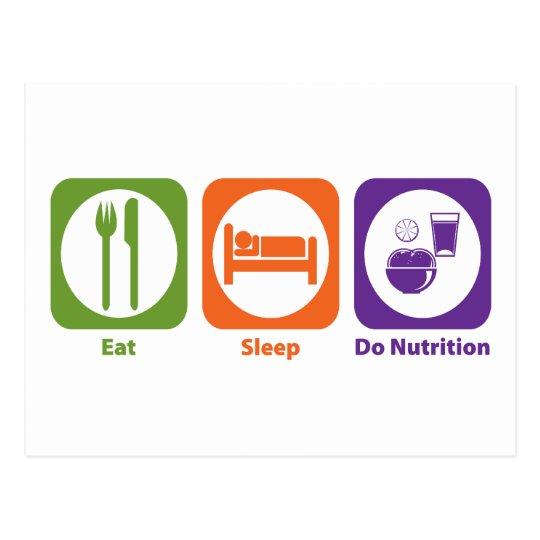 Eat Sleep Do Nutrition Postcard