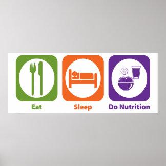 Eat Sleep Do Nutrition Poster