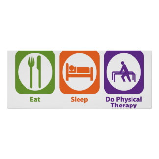 Eat Sleep Do Physical Therapy Poster