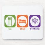 Eat Sleep Do Physics Mouse Mats