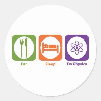 Eat Sleep Do Physics Classic Round Sticker