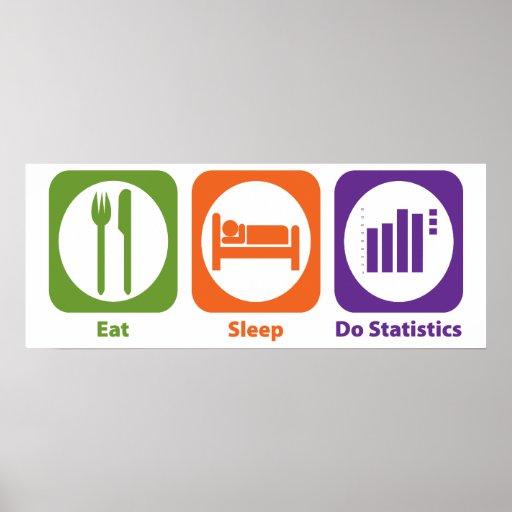 Eat Sleep Do Statistics Poster