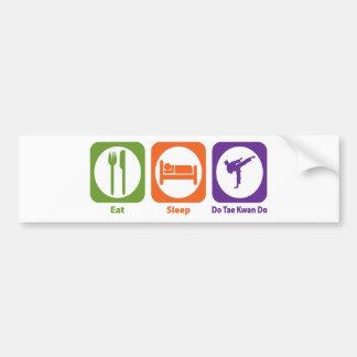 Eat Sleep Do Tae Kwan Do Car Bumper Sticker