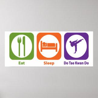 Eat Sleep Do Tae Kwan Do Poster