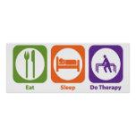 Eat Sleep Do Therapy Poster