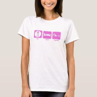 eat sleep dogsled pink T-Shirt