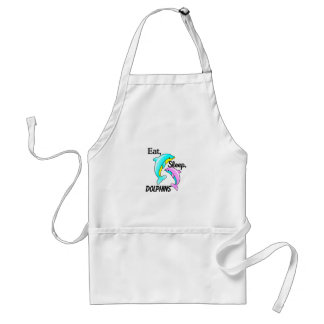Eat, Sleep, Dolphins Adult Apron