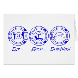 Eat Sleep Dolphins! Card