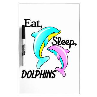 Eat, Sleep, Dolphins Dry Erase Board