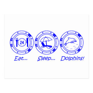 Eat Sleep Dolphins! Postcard