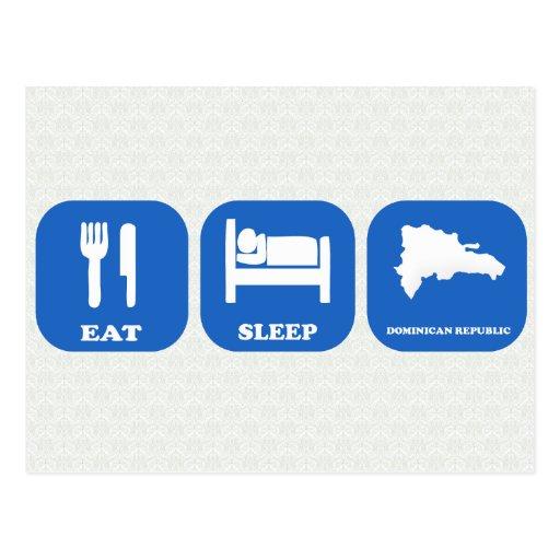 Eat Sleep Dominican Republic Postcard