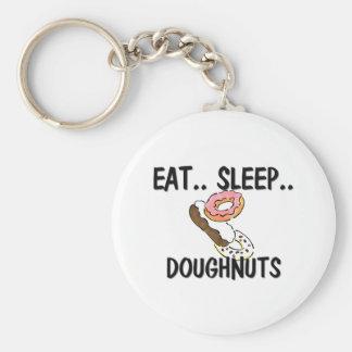 Eat Sleep DOUGHNUTS Key Chains